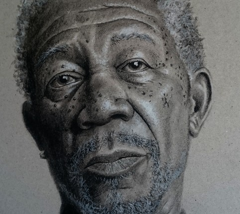 Morgan Freeman - Charcoal